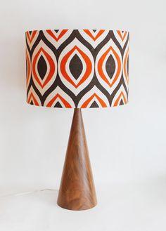 Mid Century Inspired Black Walnut Table Lamp = LOVE Mid Century Inspired  Black Walnut by MOODDESIGNSTUDIO, $295.00