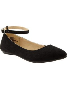 Old Navy Womens Sueded Ankle strap flats $22