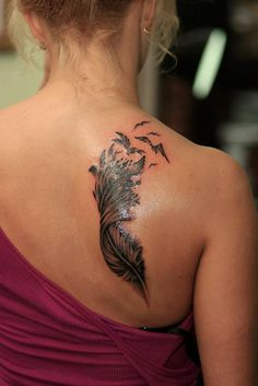 Feather tattoo | Flickr - Photo Sharing!