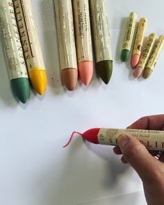 """Created in the 1940s in collaboration w/Picasso, these creamy, lipstick-like pastels are rich in pigment, cover well, and have outstanding opacity and lightfastness. Available in 110 classic colors and 10 iridescents, Sennelier Oil Pastels are acid-free, can be applied to any surface, thinned with turpentine, and worked with a brush. Also available in a larger size called """"Grand"""", which is 8X the size of regular size sticks. Sennelier Oil Pastels, Picasso, Art Supplies, 1940s, Sticks, Collaboration, Larger, Surface, How To Apply"""