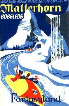 Vintage Disneyland Matterhorn Bobsleds