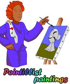 haven't tried... but pointillism interactive whiteboard activity?!