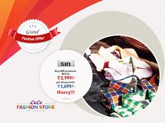 8d8dc838b366b2 Festive offers at Lulu Fashion Store! Buy Sin products worth Rs and get a  bag worth Rs Hurry!