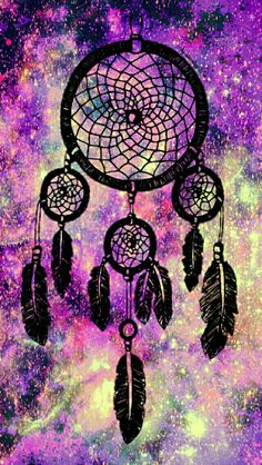 Gorgeous dreamcatcher galaxy wallpaper I made for the app CocoPPa.