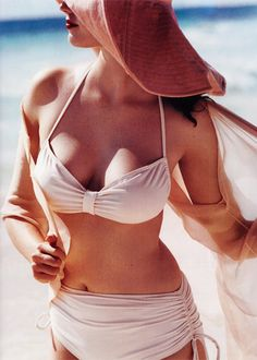 Swimsuit, Coverup, Hat. Love This!