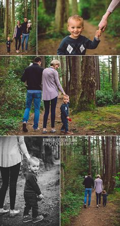 Walking in the forest - a lifestyle family photo shoot by Kimberlee Schelling Photography