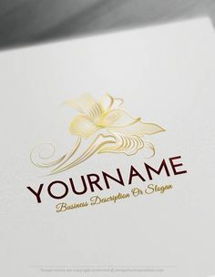Create a Logo Free – Lily Flower Logo Templates – Lotus Flowers Icon