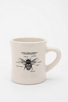 Honeybee Mug #bee #kitchen #dishes