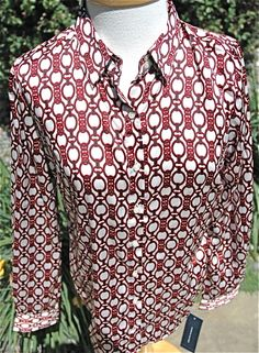 Tommy Hilfiger W's 100% Polyester L/S Top Multi-Color SIze M $79.50 NWT