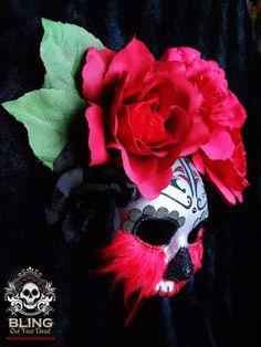 Totilma'il Day of the Dead, Dia de Los Muertos, inspired paper mache mask.