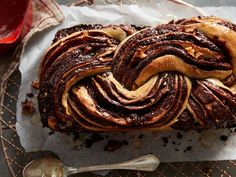 This decadent babka is swirled with toasted nuts and a dark chocolate filling that's full of flavor. Rises overnight in fridge. Chocolate Babka, Chocolate Swirl, Chocolate Filling, Chocolate Recipes, Flour Recipes, Bread Recipes, Baking Recipes, Baking Desserts, Easter Bread Recipe
