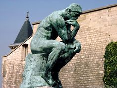 """The best-known work of Auguste Rodin's """"Thinker"""", like many other of his creations, was conceived as. Auguste Rodin, Rodin The Thinker, Whatever Is True, Sculptures, Lion Sculpture, Music Library, New Testament, Holy Spirit, Thought Provoking"""