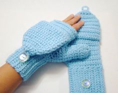 Convertible Fingerless Mittens Emerald by CreativeEndeavorsKS