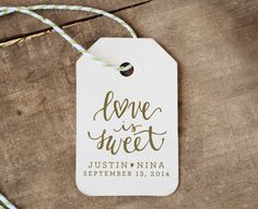 Personalized Handwritten Calligraphy Square Rubber Stamp with Optional Digital Text, Names with Wedding Date, Last Name, or Saying Favor Tags, Gift Tags, Welcome Banner, Custom Rubber Stamps, Calligraphy Handwriting, Address Stamp, Digital Text, Square, Love Is Sweet