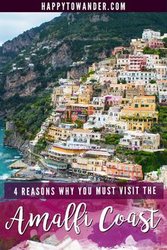 One of the most beautiful parts of Italy! Don't miss the Amalfi Coast on your next Europe trip. #Italy #AmalfiCoast: