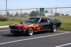 Flaming hot Mustang