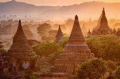 Lugares para viajar: Bagan - Myanmar