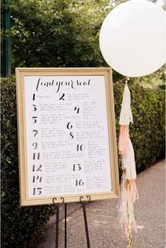 27 Unique Wedding Seating Charts Ideas | Weddingomania