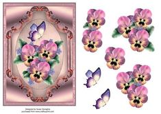Pansy & Butterfly Scrollerie