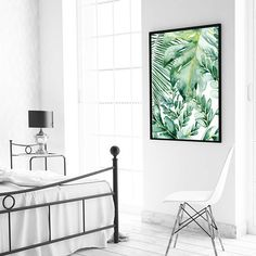 Banana Leaf Wall Art Decor Palm Print Prints Tropical Monstera Leafs