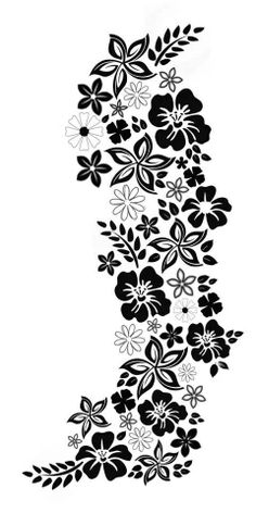 Bloemen Wall Stencil Patterns, Stencil Templates, Stencil Designs, Paper Embroidery, Hand Embroidery Patterns, Embroidery Designs, Cnc Cutting Design, Plastic Bottle Flowers, Black And White Flowers