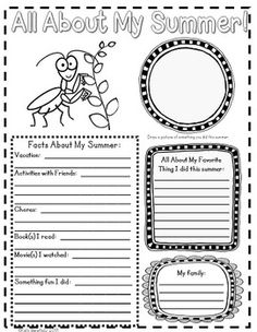 """Cute insect themed """"All About Me Posters"""".  Perfect for the beginning of school, student of the week, or anytime to get to know one another.  $"""