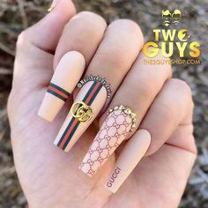 Dope Nail Designs, Cute Acrylic Nail Designs, Grunge Nails, Swag Nails, Light Pink Acrylic Nails, Gucci Nails, Nagel Bling, Glamour Nails, Baby Nails