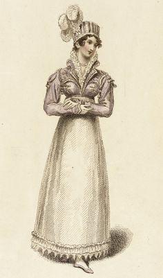 Fashion Plate May 1815 (Angouleme Walking Dress)   LACMA Collections (?La Belle Assemblée)