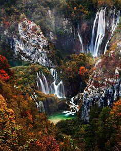 Autumn in Plitvice Lakes National Park, Croatia: