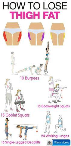 Toning thighs workout