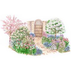This garden is special because of the amazing fragrance it produces! More spring beauty garden plans: http://www.bhg.com/gardening/plans/seasonal/spring-beauty-garden-plans/?socsrc=bhgpin073014fragrantspringgarden&page=9