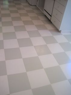 How-To: Painted Checkerboard Tile Floor | Pinterest | Checkered ...