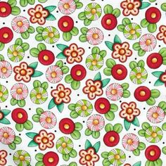 """24"""" Remnant Mary Engelbreit Trimming the Tree Christmas Floral 23969-Z White #QuiltingTreasuresBin159"""