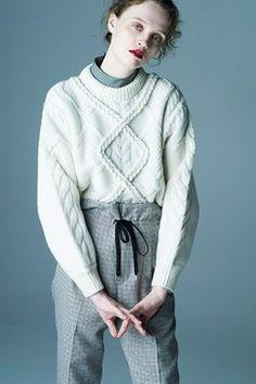 クラネ(CLANE) 2017-18年秋冬コレクション - Gallery2 Winter Collection, Knitwear, Men Sweater, Turtle Neck, Hoodies, Knitting, Lady, Womens Fashion, Sweaters