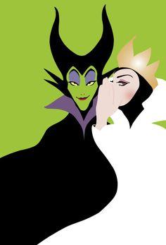 Maleficent and the evil queen disney pixar, disney villains funny, walt disney, disney Disney Magic, Disney Dream, Disney Amor, Disney Love, Disney Evil Queen, Disney Style, Disney E Dreamworks, Disney Pixar, Funny Disney