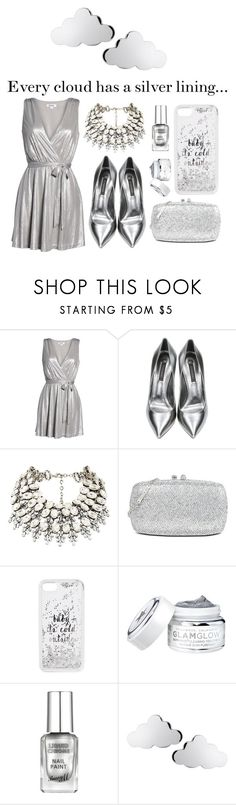 """Silver Lining"" by crown-princess-ani ❤ liked on Polyvore featuring BB Dakota, Casadei, Love Moschino, Kate Spade and Tessa Packard"