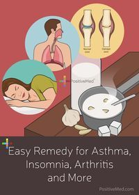 Easy Remedy for Asthma, Insomnia, Arthritis and More - #asthma #insomnia #sleepingdisorder #sleeping