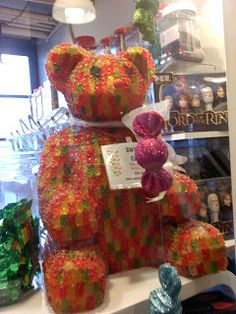 Giant bear made out of gummy bears!