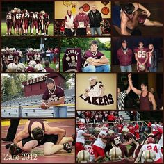 Senior Sports collage by Kelly Summers Photography.  www.kellysummersphotography.com