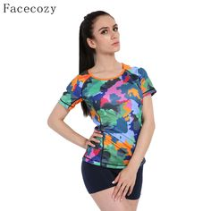 Facecozy Women Summer 100% Polyester Camouflage T-Shirt O-Neck Thin Quick Dry Tops Outdoor Tee Hiking Adventure Sports T Shirts -- AliExpress Affiliate's buyable pin. Find similar products on www.aliexpress.com by clicking the image