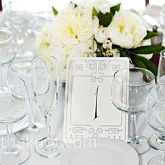 Blue Table Number Cards