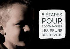 8 étapes pour accompagner les peurs des enfants d'après Isabelle Filliozat.