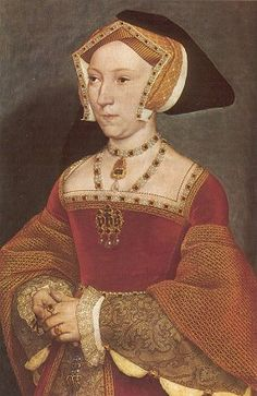 """""""Portrait of Jane Seymour"""", 1537, by Hans Holbein the Younger (Flemish, 1497/98-1543). Jane Seymour (c. 1508-1537) was Queen of England as the third wife of King Henry VIII, succeeding Anne Boleyn as queen consort following the latter's execution in May 1536. She died of postnatal complications less than two weeks after the birth of her only child, a son who reigned as Edward VI. She was the only one of Henry's wives to receive a queen's funeral, and his only consort to be buried beside him."""