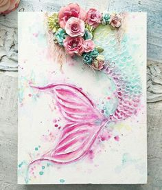 ・・・ A custom made Mermaid Tail canvas.this time with pink Sooooo pretty Mermaids and unicorns 29 DIY Upcycle Wine Cork Craft Ideas to Beautify your Interior - Diy Food Garden. Mixed media inspiration for mermaid art Sirènes / Mermaids / Creature o Art Painting, Creative, Mermaid, Mermaid Painting, Painting, Mermaid Art, Artsy, Diy Art, Arts And Crafts