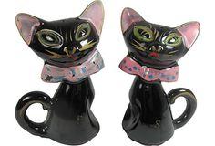 Black Cat Salt & Pepper on OneKingsLane.com/shop/retroda