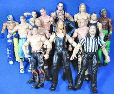 Wrestling Figurines Mattel 2010 WWE & Jakks 1999 2000 2001 Lot of 14 Wrestlers #MattelJakks