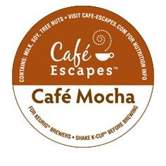 Love Cafe Escapes Cafe Mocha hot chocolate in my Keurig with mini marshmallows on top, of course!!