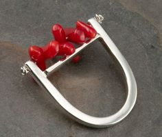 Red Coral and Silver Ring: by JenLawlerDesigns on Etsy