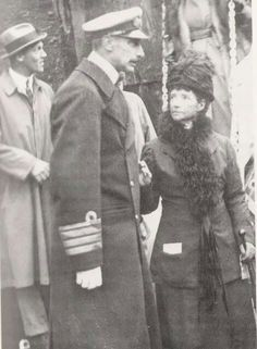 Dowager Empress Maria Feodorovna, née Princess Dagmar of Denmark, arriving in Denmark in after her son, Tsar Nicolas II and his entire family were massacred by the Bolsheviks. can't even imagine her sorrow. Tsar Nicolas Ii, Tsar Nicholas, Belle Epoque, Christian Ix, Royal Families Of Europe, The Bolsheviks, Grand Duchess Olga, House Of Romanov, Royals