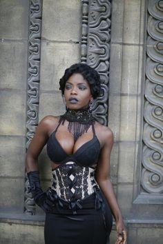 PowderedandWaisted shared a new photo on Etsy Hot Goth Girls, Gothic Girls, Burlesque Vintage, Black Goth, Goth Women, Victorian Lace, Dark Skin Beauty, Gothic Fashion, Steampunk Fashion